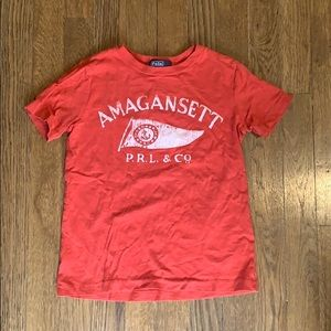 Polo by Ralph Lauren t shirt burnt red size 5